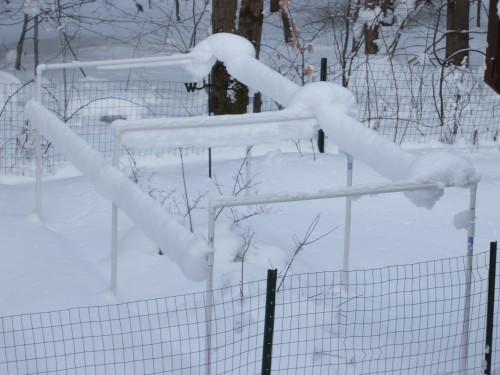 Upside down snow